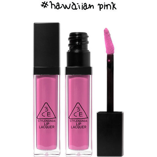 3CE Lip Lacquer #Hawaiian Pink - Go Go Beauty - 4