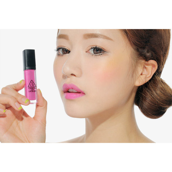 3CE Lip Lacquer #Hawaiian Pink - Go Go Beauty - 7