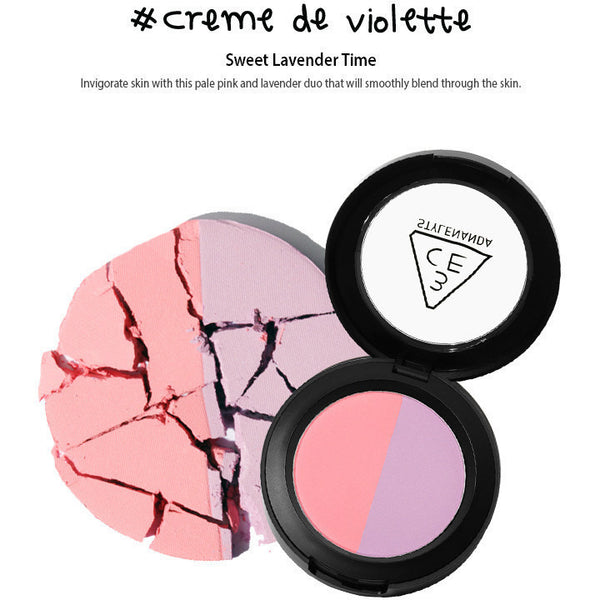 3CE Duo Color Face Blush #creme de violette - Go Go Beauty - 3