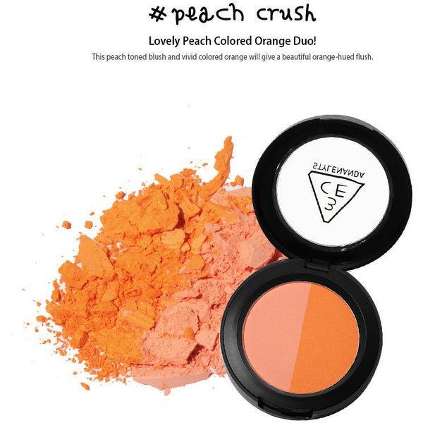 3CE Duo Color Face Blush #peach crush - Go Go Beauty - 3
