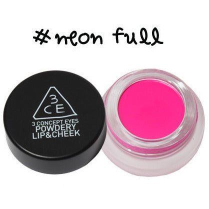 3CE Powdery Lip & Cheek #Neon Full - Go Go Beauty - 3