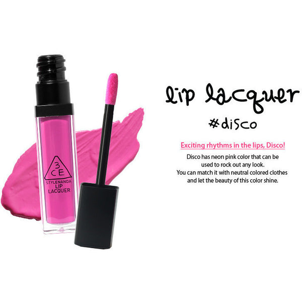 3CE Lip Lacquer #Disco - Go Go Beauty - 6