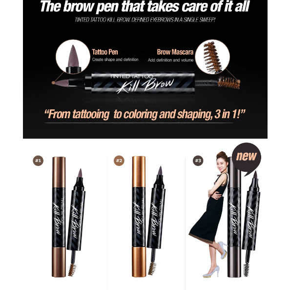 CLIO Kill Brow Tinted Tattoo - Go Go Beauty - 9
