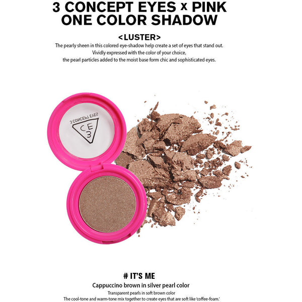 3CE Pink One Color Shadow - Go Go Beauty - 3
