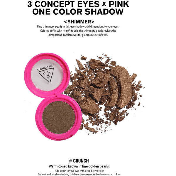 3CE Pink One Color Shadow - Go Go Beauty - 11