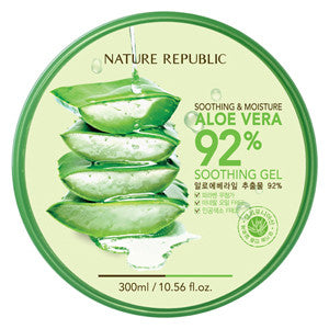 NATURE REPUBLIC Soothing & Moisture Aloe Vera 92% Soothing Gel - GOGO Beauty - 1