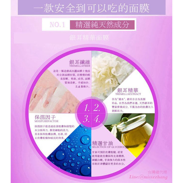 MISS ZHANG Handwork Tremella Essence Facial Mask - Go Go Beauty - 3