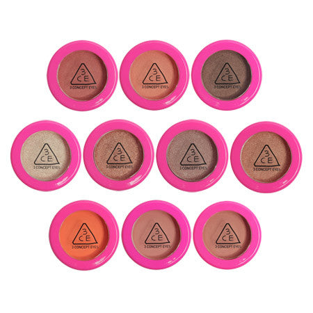 3CE Pink One Color Shadow - Go Go Beauty
