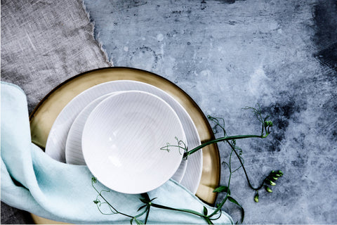 Interior Design Blogs 2019 - Plates on Coloured Table