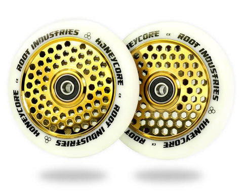 Root - 110mm Honeycore Wheels - White  Scooter Parts & Accessories Root- Wheelz Inc.