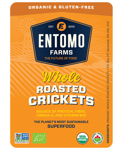 Whole Roasted Crickets - Organic & Gluten Free - Entoeats
