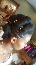 natural hair  for wedding