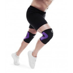 Rehband Knee Sleeves - 3mm Black/Purple