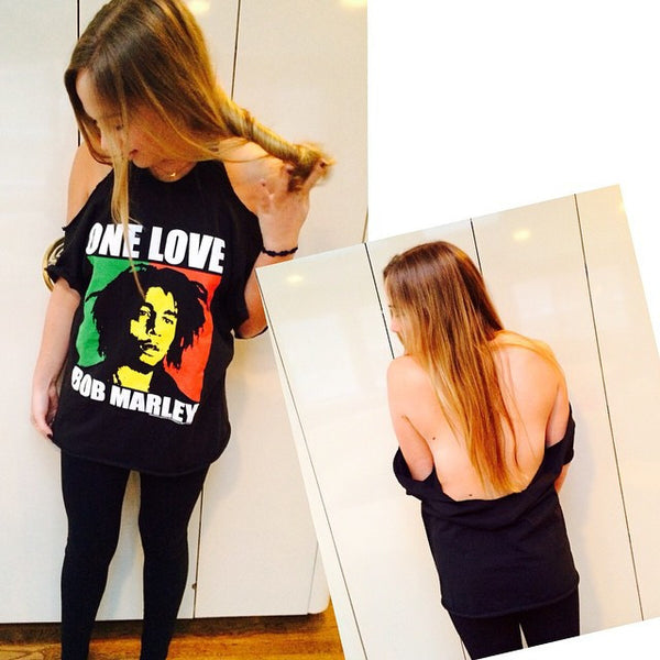 Open Shoulder Backless Tee