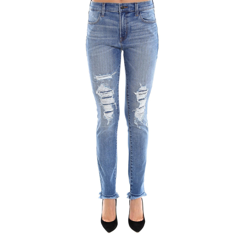 J Brand Distressed Slim Fit Jeans