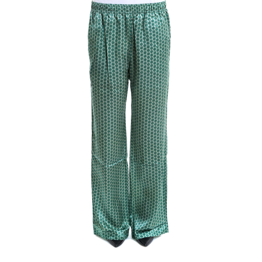 Faith Connexion Flared Silk Trousers
