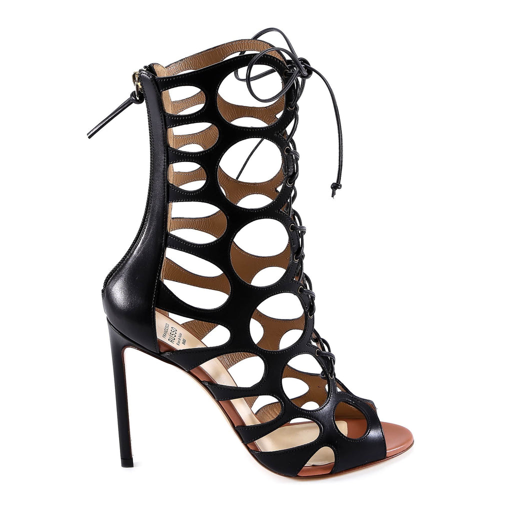 Francesco Russo Cut Ankle Boot Sandals