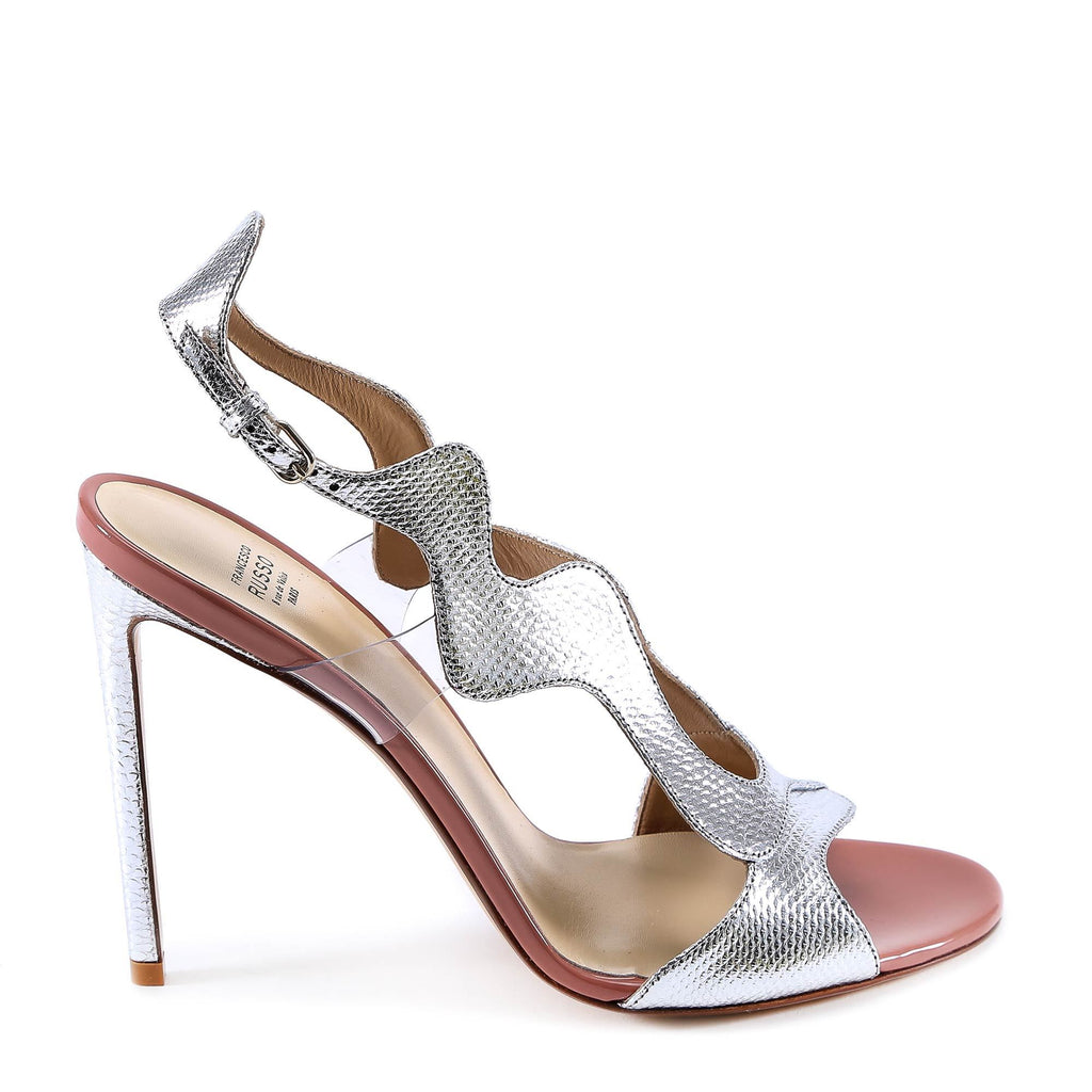 Francesco Russo Metallic Heeled Sandals
