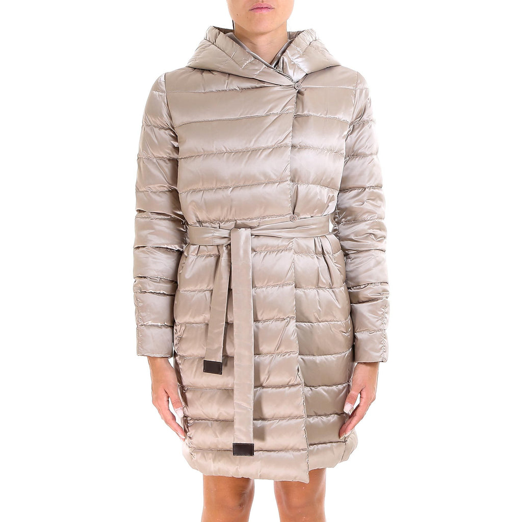 'S Max Mara Quilted Hooded Coat