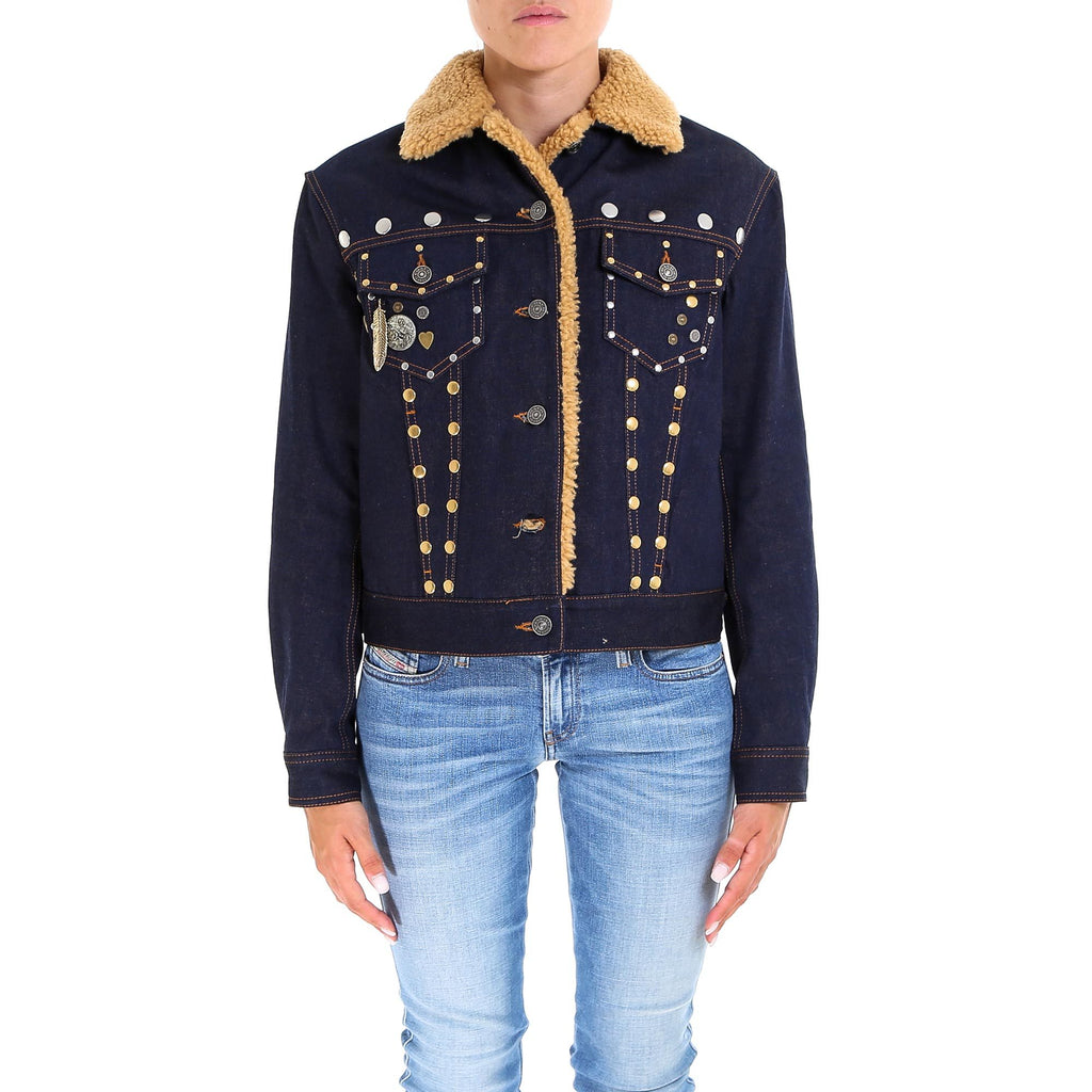 Coach Stud Embellished Denim Jacket
