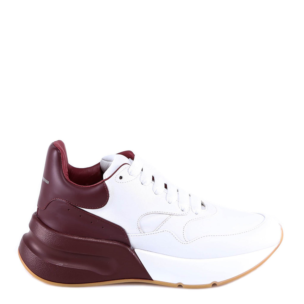Alexander McQueen Bi-Colour Lace-Up Leather Sneakers