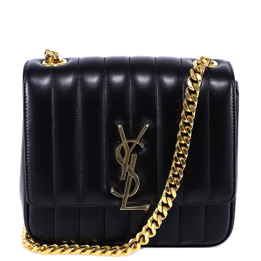 Saint Laurent Vicky Quilted Chain Bag