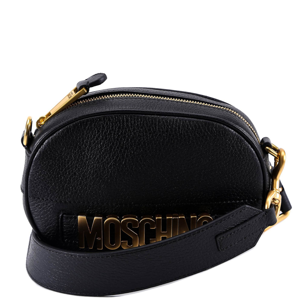 Moschino Logo Leather Shoulder Bag
