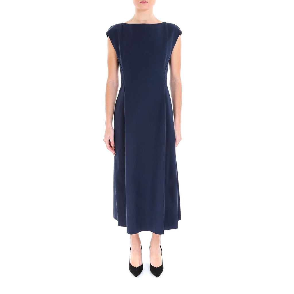 Theory Boat Neck A-Line Dress