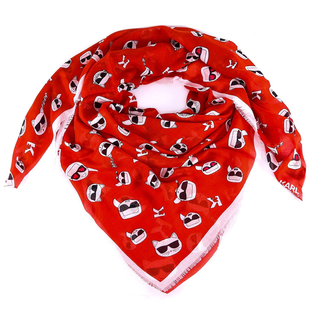Karl Lagerfeld All Over Karl Print Scarf