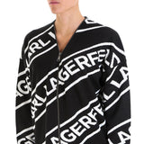 Karl Lagerfeld Logo Embroidered Cardigan