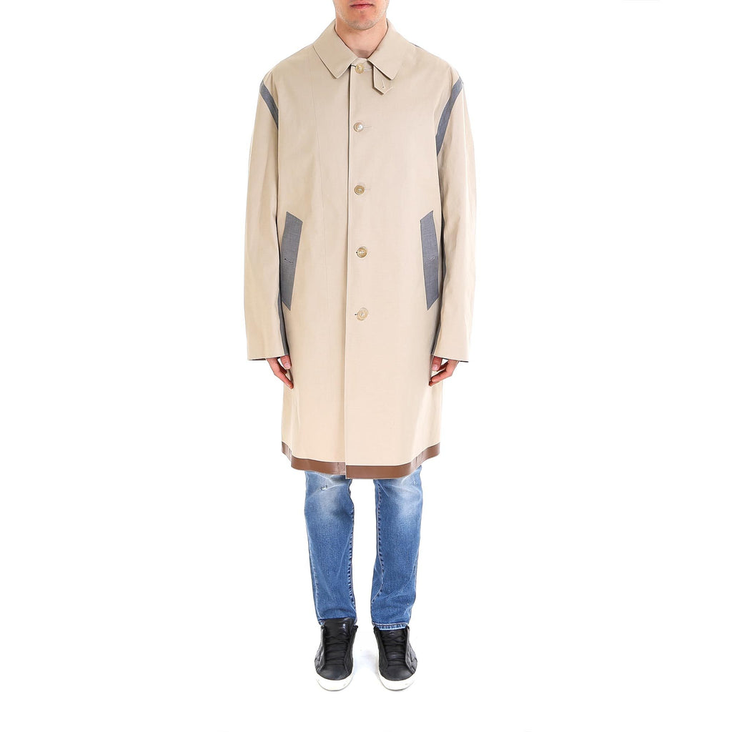 Mackintosh Contrast Trim Trench Coat