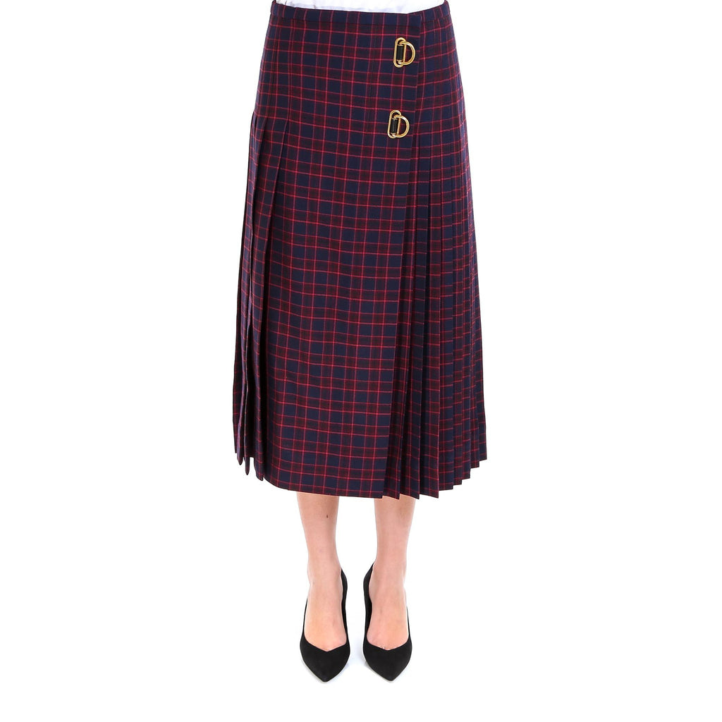 Burberry D-Ring Pleated Kilt