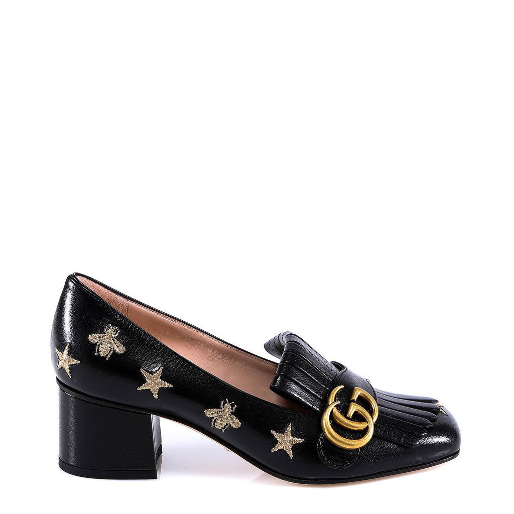 Gucci GG Buckle Loafer Pumps