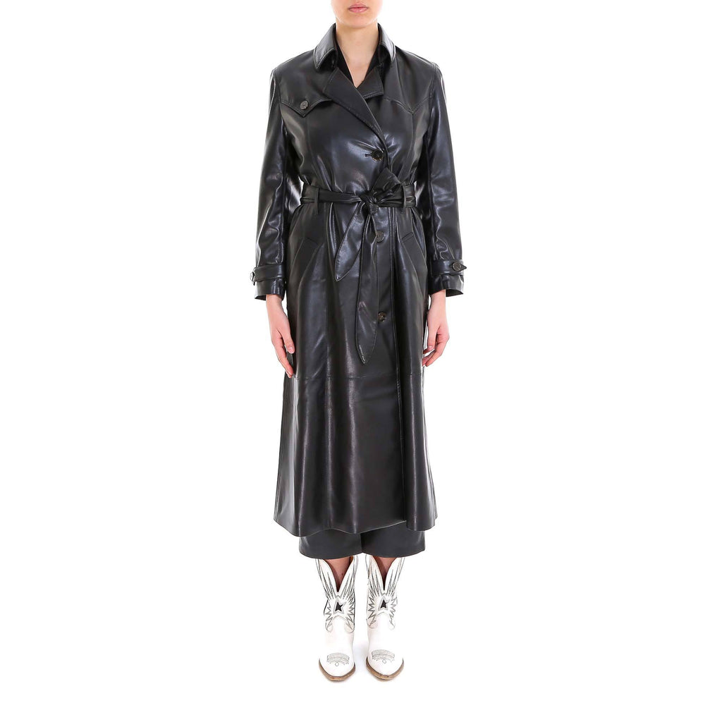 Nanushka Double-Breasted Trench Coat