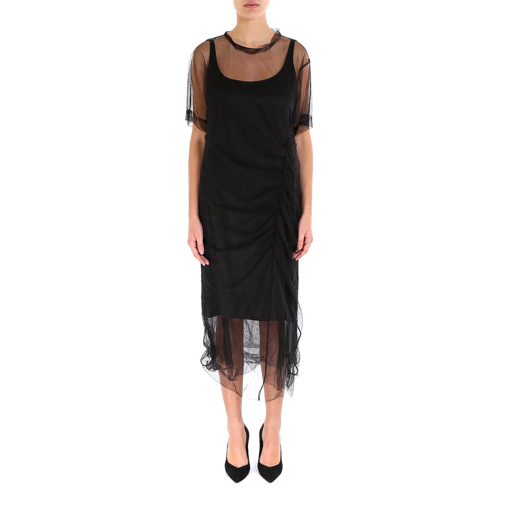 Brunello Cucinelli Voile Overlay Dress