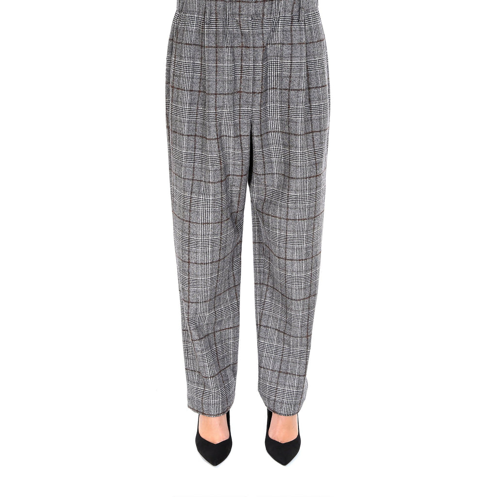 Brunello Cucinelli High Waisted Checkered Pants