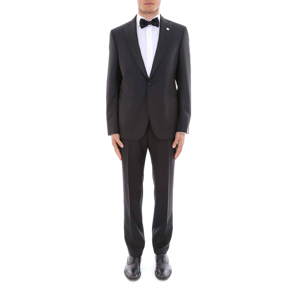 Lardini Floral Brooch Two-Piece Tuxedo Suit