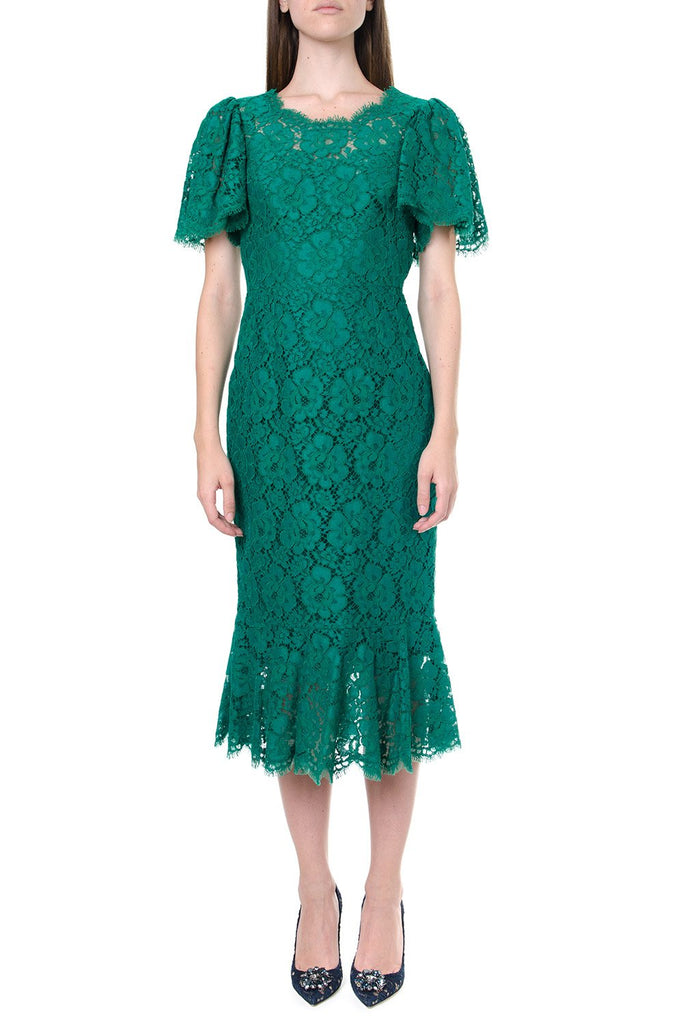 Dolce & Gabbana Frill Trim Lace Dress