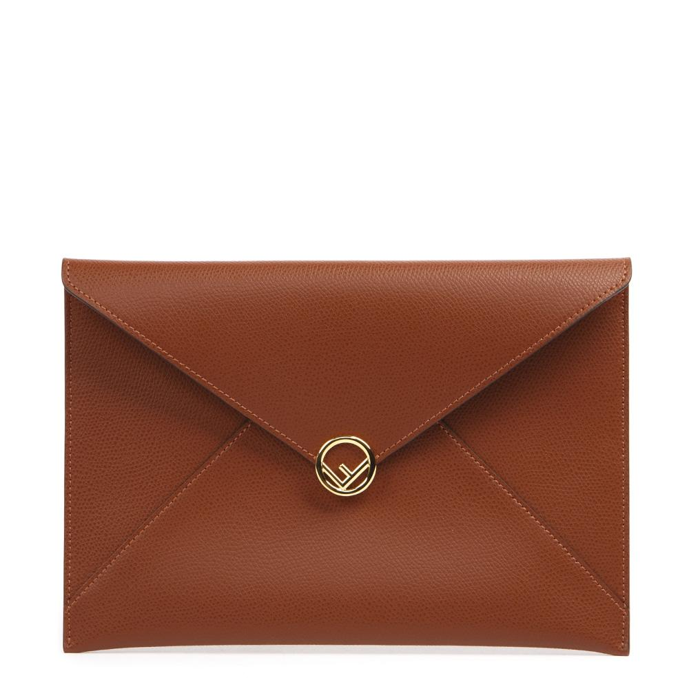 Fendi Logo Foldover Clutch Bag