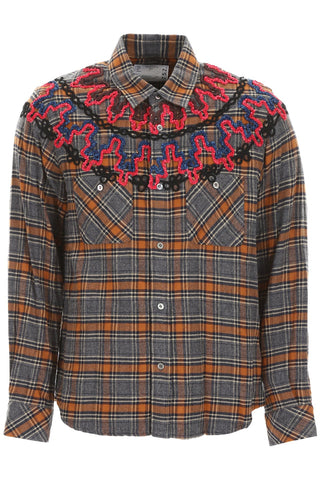 Sacai Embroidered Check Shirt