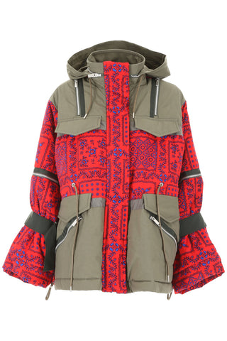 Sacai Pattern Printed Padded Jacket