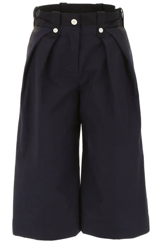 Sacai Wide-Leg Cropped Trousers