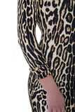 Burberry Leopard Print Bodycon Dress