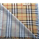 Burberry Fringed Edge Check Scarf