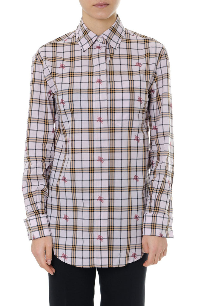 Burberry Equestrian Knight Checked Shirt