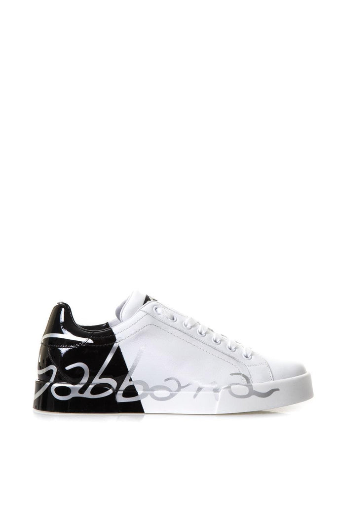 Dolce & Gabbana Logo Contrast Lace-Up Sneakers