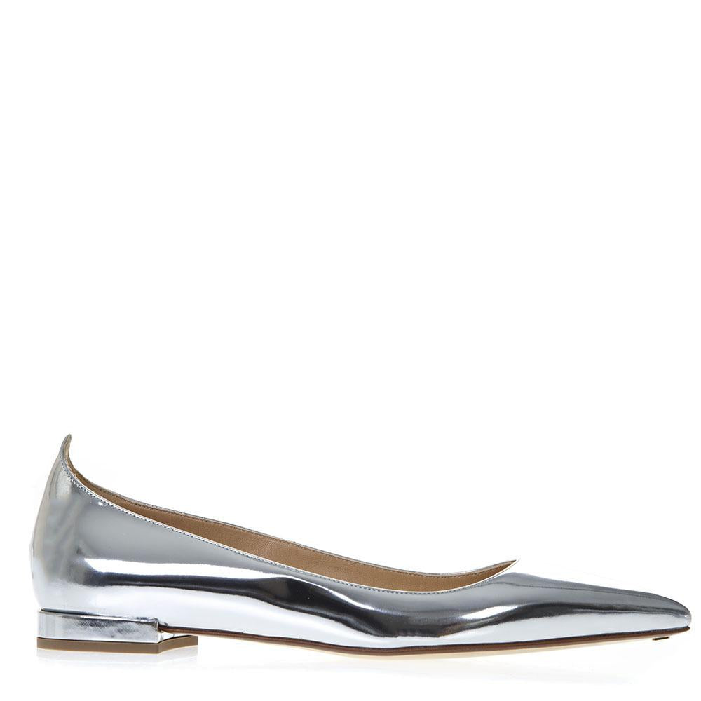Francesco Russo Mirror Pointed Toe Flats