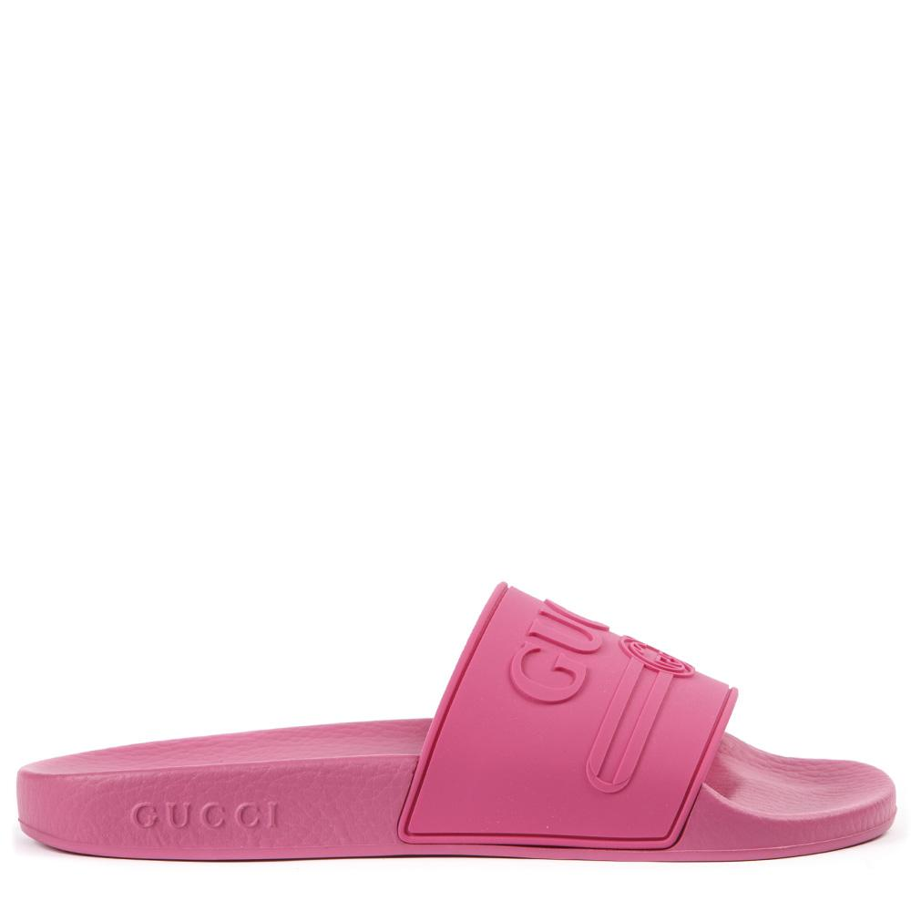 Gucci Embossed Logo Slides