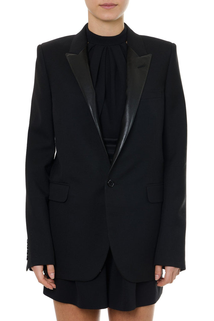 Saint Laurent Contrast Collar Blazer