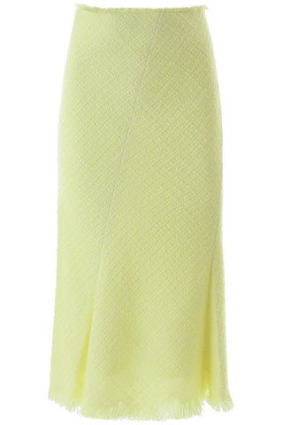 Alexander Wang Frayed Tweed Midi Skirt